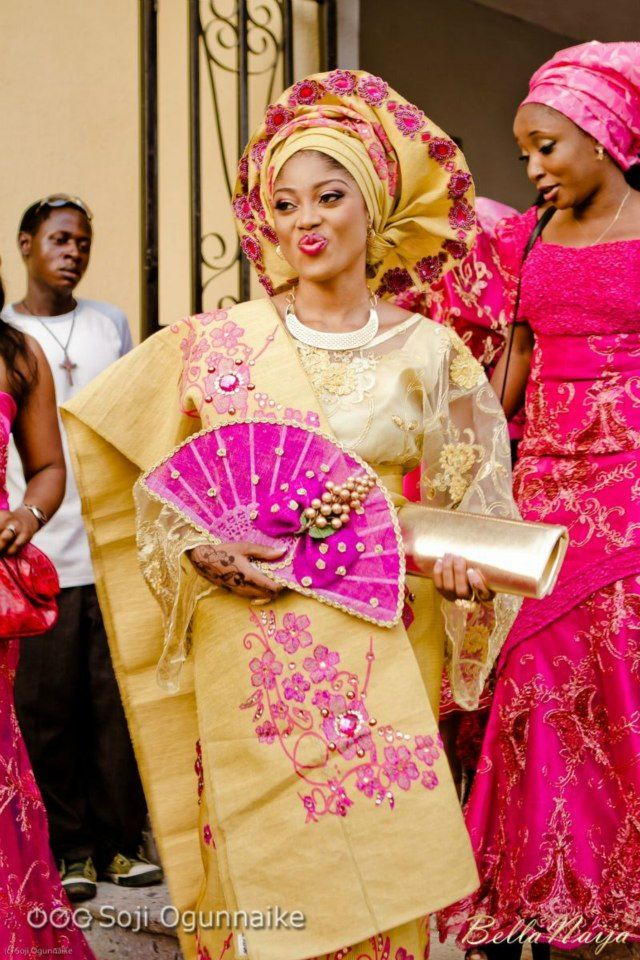 The Bride Traditional Gold And Pink Wedding Gown Ghana Nigeria