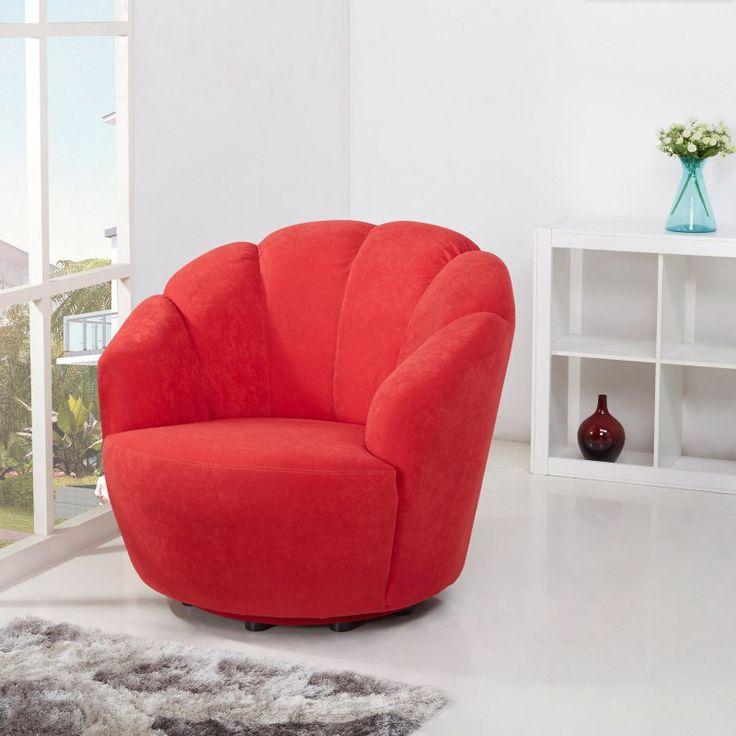 Gold Sparrow Newton Swivel Barrel Chair Scarlett - ADC-NEW-CHA-CGX-SCA