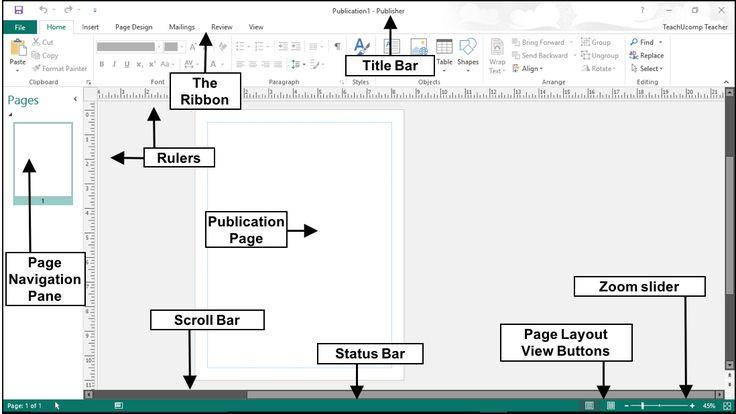 The Publisher 2016 User Interface - Tutorial - TeachUcomp, Inc.