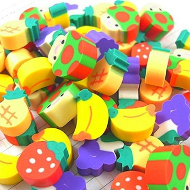 Little erasers: | 33 Smells You Will Never Be Able To Forget