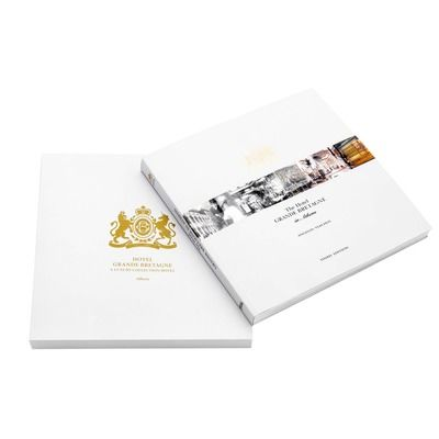 Hotel History Book - Αn enriched 230-pages coffee table book referring to the landmark hotel's history through times.  A 2015 edition containing the Hotel Grande Bretagne's significant moments through the years as well as Greece's past two centuries' detailed explanation with assorted documentary pictures. The ideal guide book that provides insight to both the hotel's and country's intriguing background.