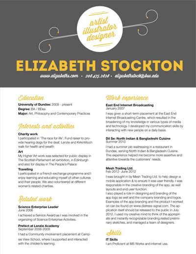 15 best images about resumes on Pinterest Resume ideas, Resume - how to make resume stand out