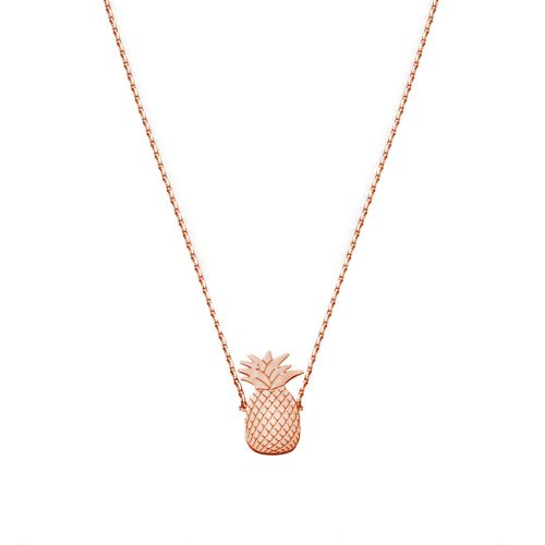 PINEAPPLE NECKLACE ROSE GOLD | Flor Amazona