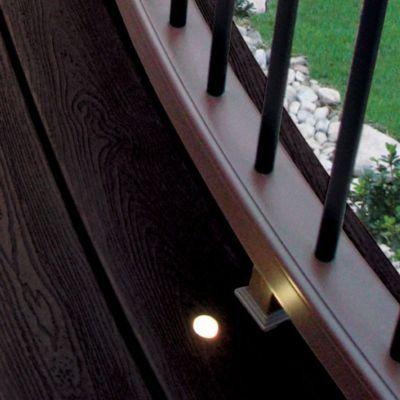 Trex Deck Lighting recessed light installs flush on the deckboard