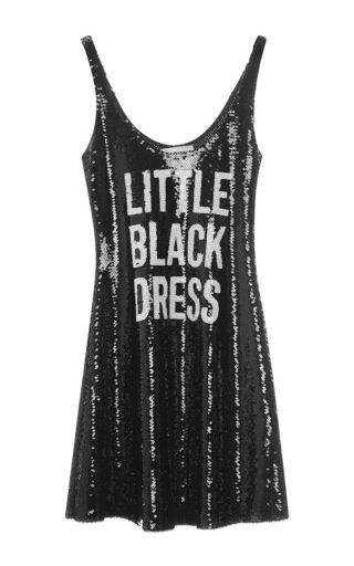 MOSCHINO | Sequin little black dress