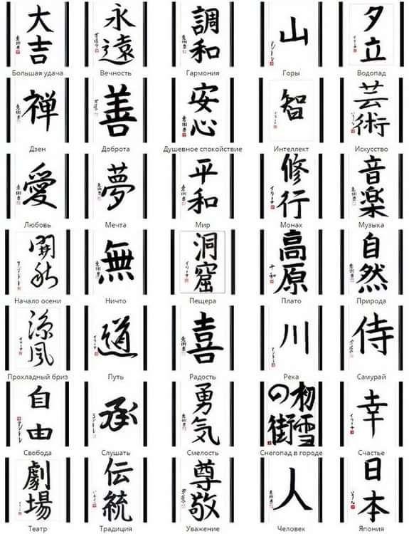 иероглифы картинки с обозначениями журнал приглашает вас