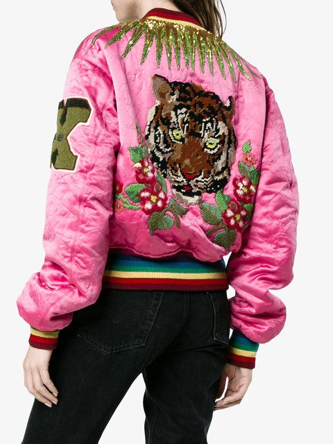 ad12824aaa Gucci Embroidered Reversible Bomber Jacket - Farfetch