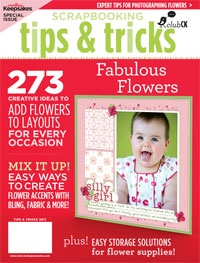 Fabulous ideas for scrapbooking with flowers!