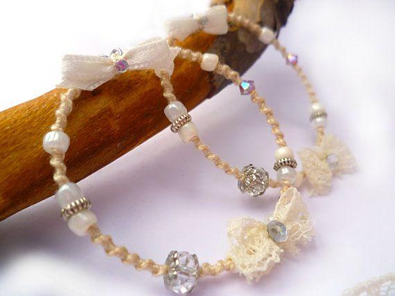 Boho wedding earrings Champagne earrings by Hamelin