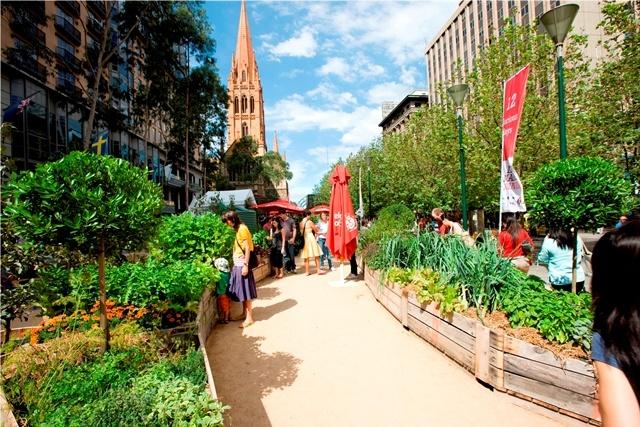 Melbourne Food and Wine Festival's Metlink Edible Garden 2011