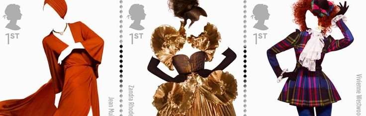 Homenaje a la moda en una colección de estampillas del Royal Mail de Gran Bretaña.