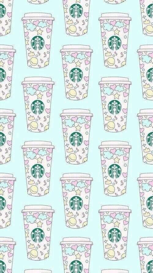 pattern, starbucks, and wallpaper image | Starbucks ...