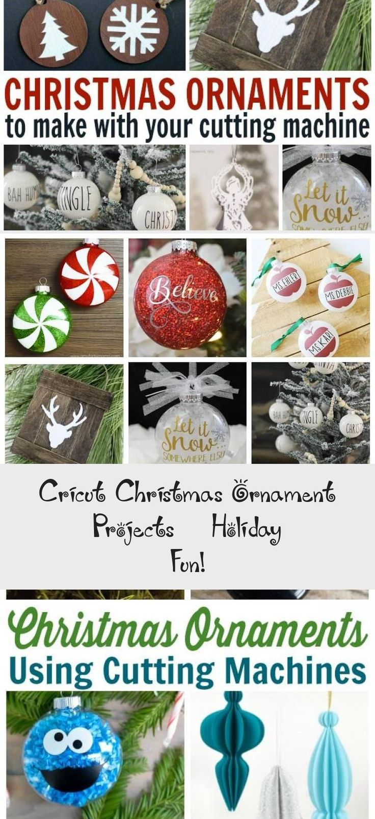 Cricut Christmas Ornament Projects Holiday Fun in 2020