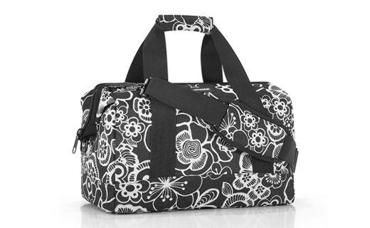 """#Bolso """"All Rounder"""" floral negro, ideal para inspirado en los antiguos maletines de los medicos, poliester resistente, repelente al agua"""