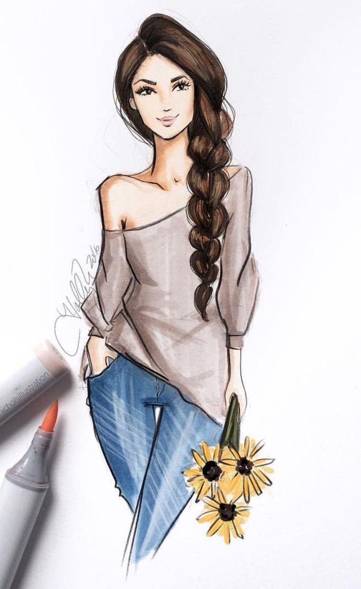 Fashion illustration/ croqui de moda. Pinterest: @giovana