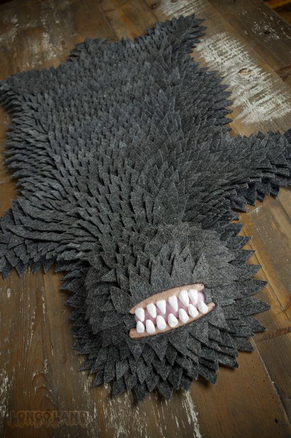 Monster-skin rug. $1500