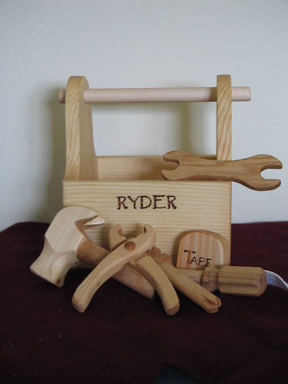Ready To Go Wood Tool Box W/4 Just Right Size Tools by cattoy4