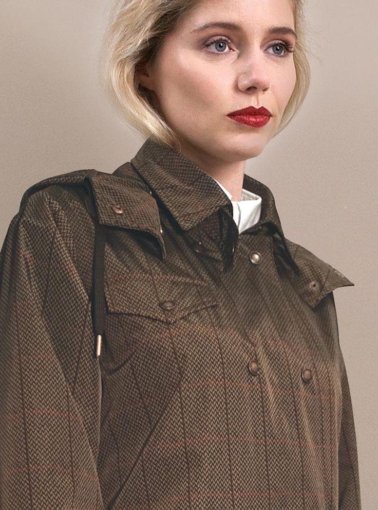 WATERDICHT Amsterdam Straincoat Urban Classic, stylish raincoat - Outer fabric:100% PE / membrane 100% PU