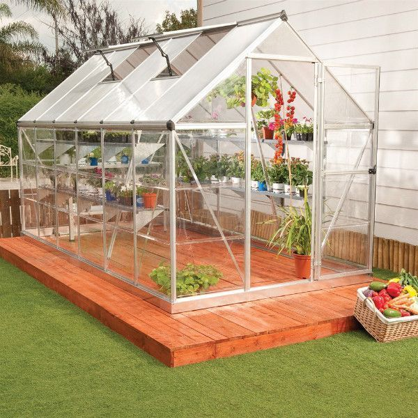 Palram 6 x 14 ft  Silver Hybrid Greenhouse HG5514