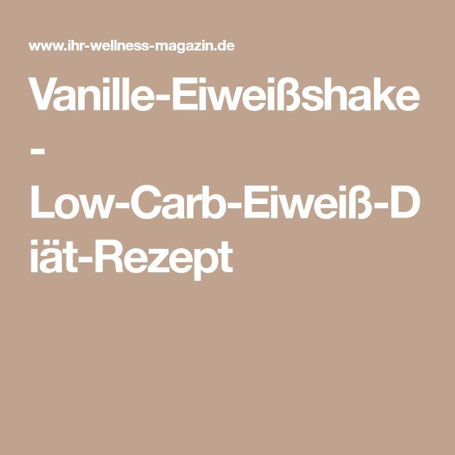 Vanille-Eiweißshake - Low-Carb-Eiweiß-Diät-Rezept