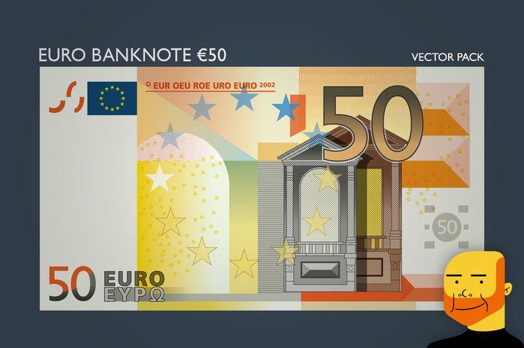 Euro Banknote €50 (Vector) by Paulo Buchinho on Creative Market