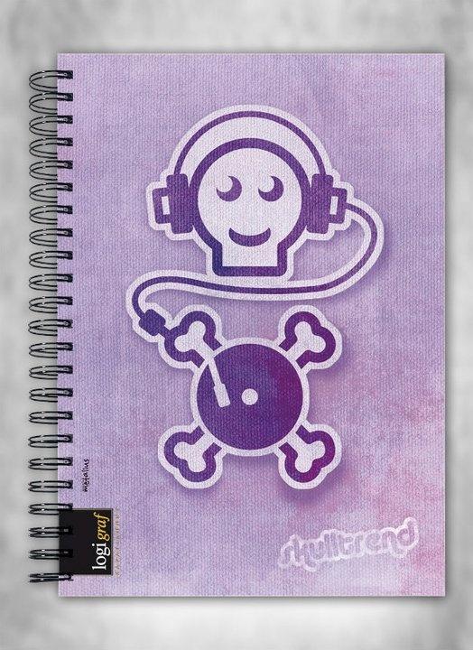 illustration for spiral notebooks
