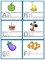 Great site for letter recognition & writing practice...lots of different ideas on teaching the alphabet, etc.
