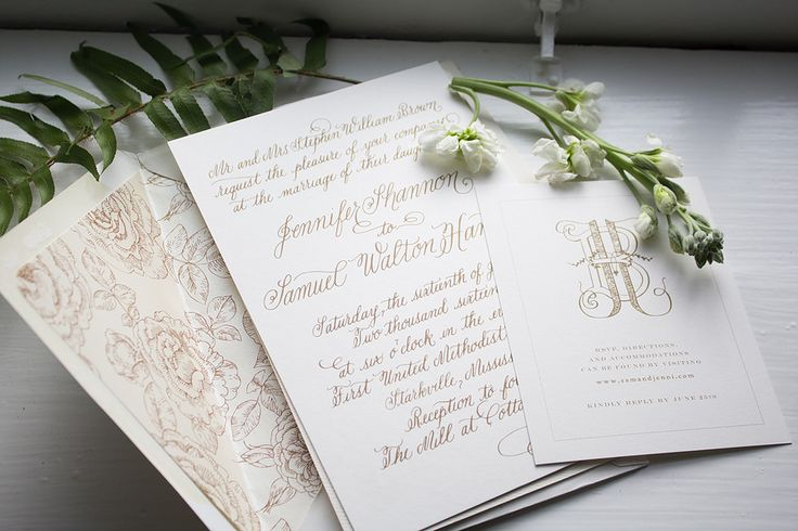 Beth Hunt Calligraphy Custom Wedding Invitation | Oxford, Mississippi  #calligraphy #moderncalligraphy #brushlettering #lettering #oxford #mississippi #brides #weddings #events