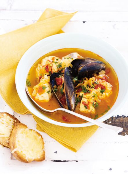 Seafood Bouillabaisse. A satisfying soup for every seafood fan. #Woolworths #recipe #seafood  http://www.woolworths.com.au/wps/wcm/connect/Website/Woolworths/FreshFoodIdeas/Recipes/Recipes-Content/Seafood-Bouillabaisse