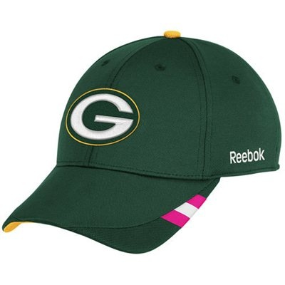 Reebok Green Bay Packers Green Breast Cancer Awareness Coaches Sideline Adjustable Hat