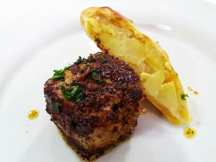 Foto del filetto di maiale alla senape con studel di patate