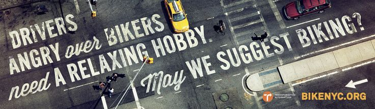 """Bike Like a New Yorker"" campaign for BikeNYC.org, created by Mother New York - #cycling #cyclesafe #NYC"