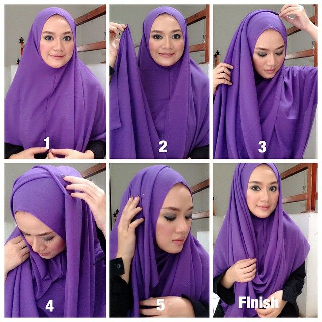 This is a beautiful hijab tutorial, covering the whole chest area, it's a practical look for prayers, you can wear it with a maxi dress or an Abaya. It's so easy to create, follow the steps below for the finished…