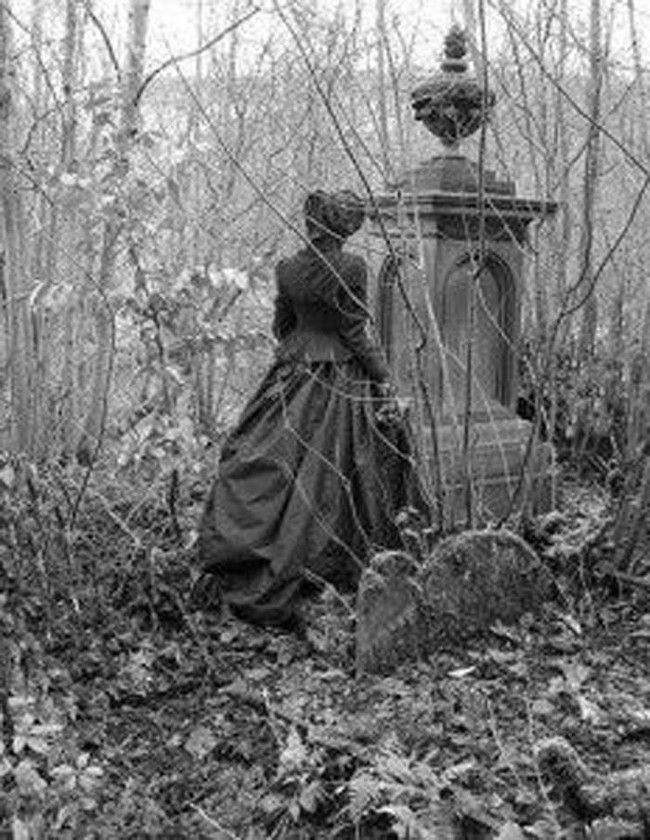 Victorian mourning.