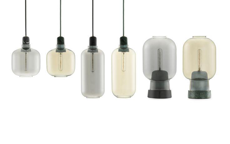 Amp Lampe Klein rauchschwarz