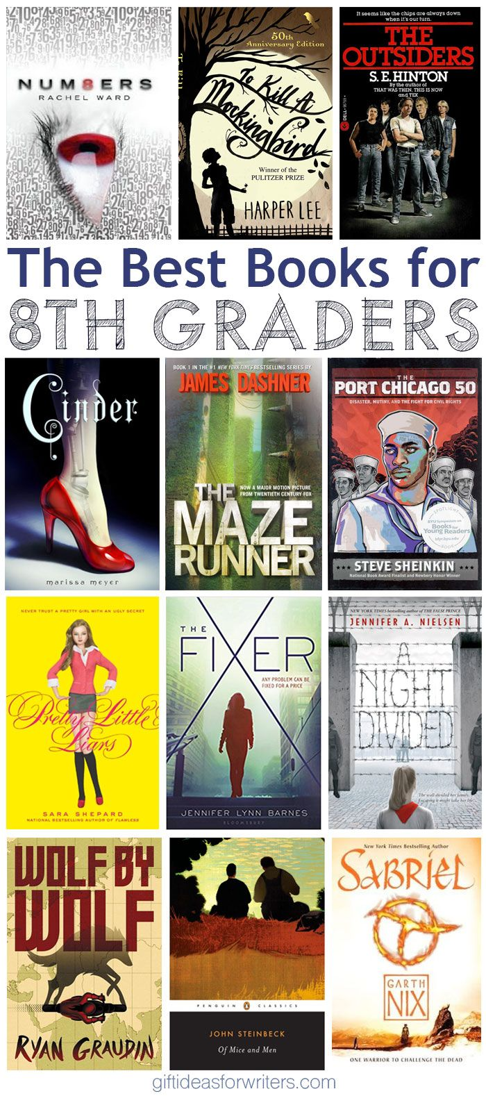 The Best Books For 8th Graders Stuff For Writers And Book Lovers