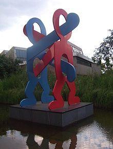 Sculpture de Keith Haring à Berlin