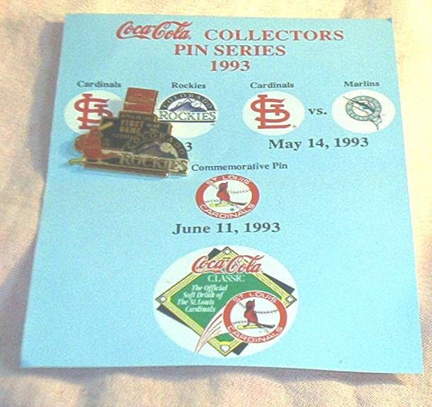1993 St. Louis CARDINALS vs. Colorado ROCKIES First Game Commemorative PIN, Coca Cola/Cardinals Promotional, Mint. by brotoys1 on Etsy