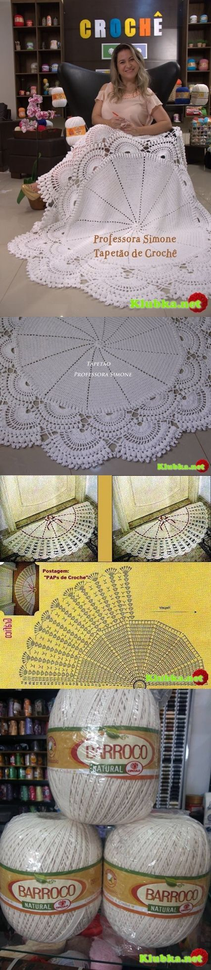 Crocheted Round Tablecloth http://www.liveinternet.ru/users/2981374/post360093616/