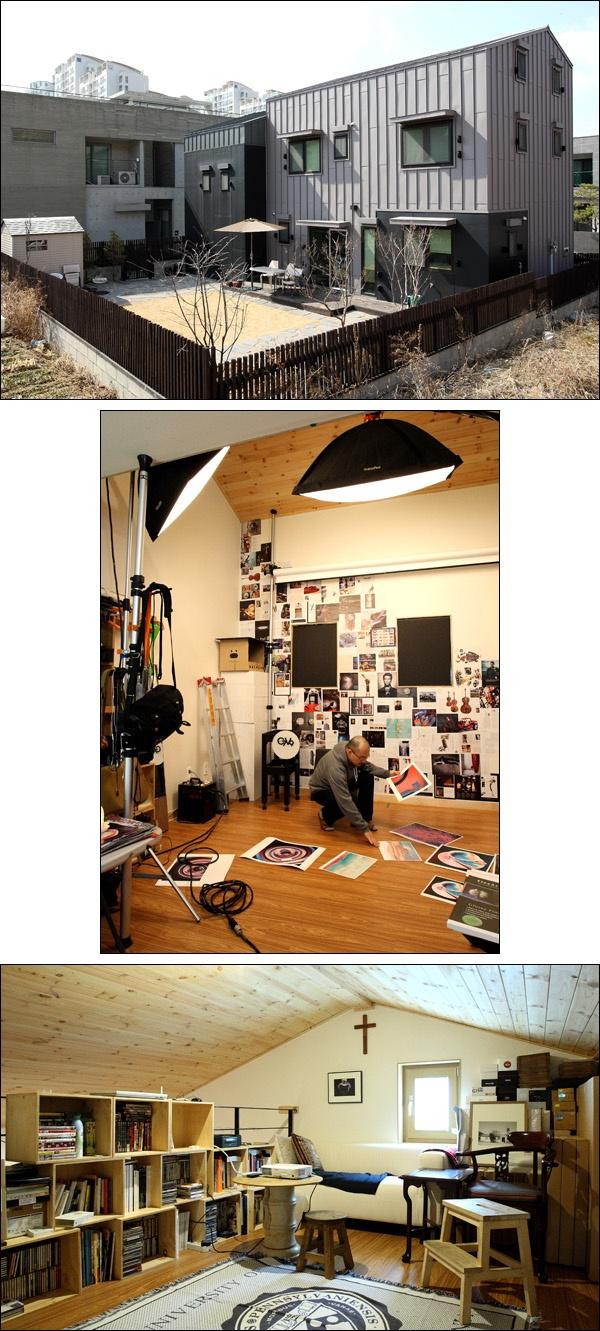 집과 일터가 붙어 있는 땅콩집 용인 땅콩집은 두 동으로 구성된다. 한 동은 사진가인 건축주의 스튜디오고, 한 동은 집이다. 그냥 편안한 집, 가족이 행복하게 살 수 있는 작은 집이다.