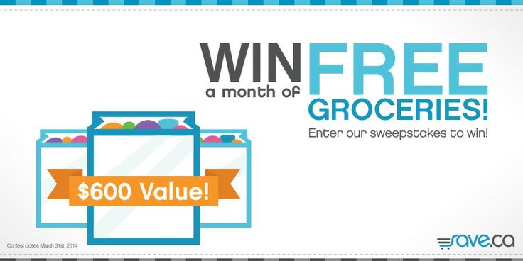 Check out this contest from Save.ca for a chance to Win Groceries for a Month!