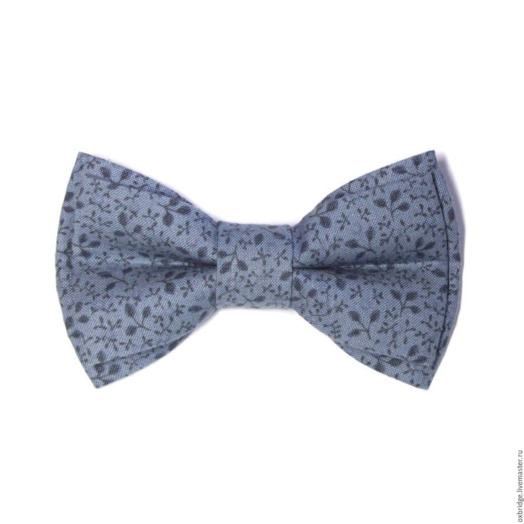 Купить Галстук бабочка серого цвета в мелкий рисунок / Бабочка галстук серый