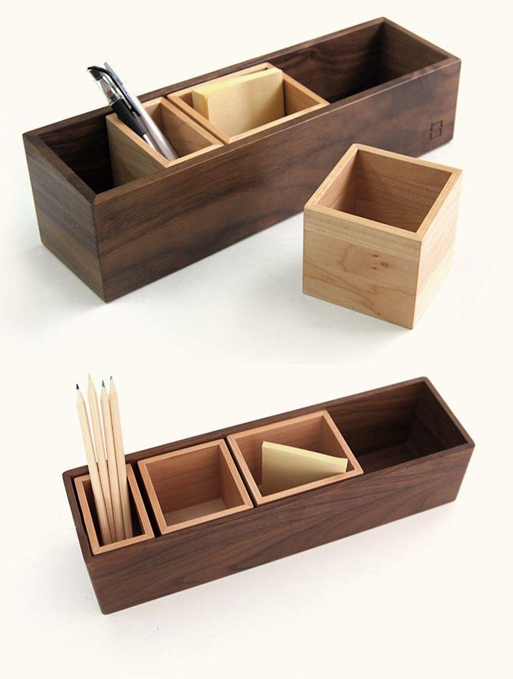 Stationary Rack Desk Organizer Pen Letter Holder Office Storage Tidy Display Box