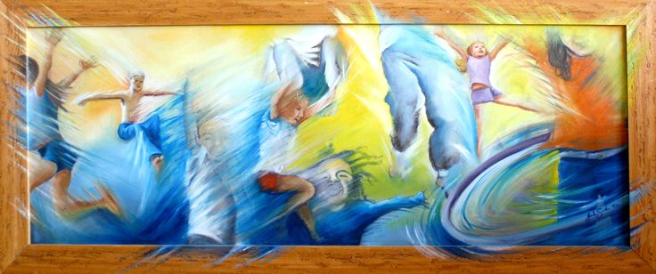 Freedom of children - Oil Painting by Julie Sneeden