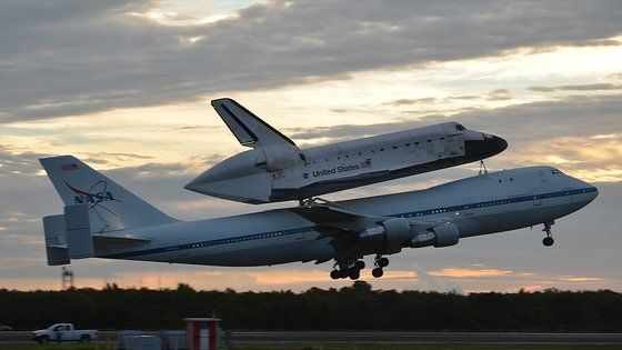 NASA's Space Shuttle Museum Flights: Space shuttle Endeavour, atop its Shuttle Carrier Aircraft, takes off on NASA's last-ever ferry flight from the Kennedy Space Center in Florida on Sept. 19, 2012. Endeavour is headed for Los Angeles, Calif., to be put on public display at the California Science Center. Original Image Credit: collectSPACE.com/Robert Z. Pearlman