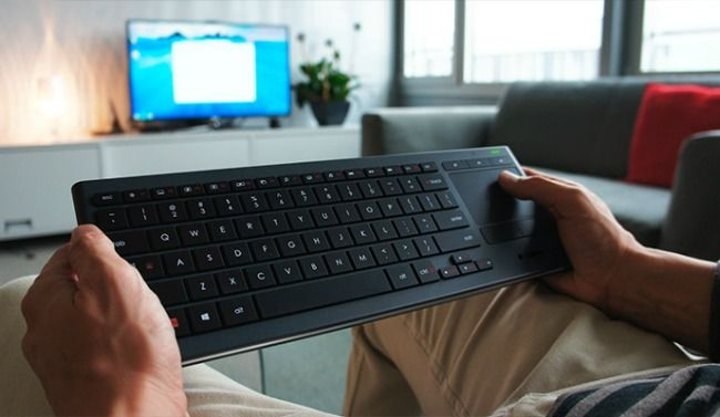 Navigate PC to TV even in the dark with the Logitech Illuminated Living Room Keyboard