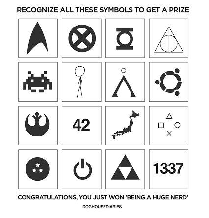 ¿Reconoces todos estos símbolos? Enhorabuena, eres un Nerd