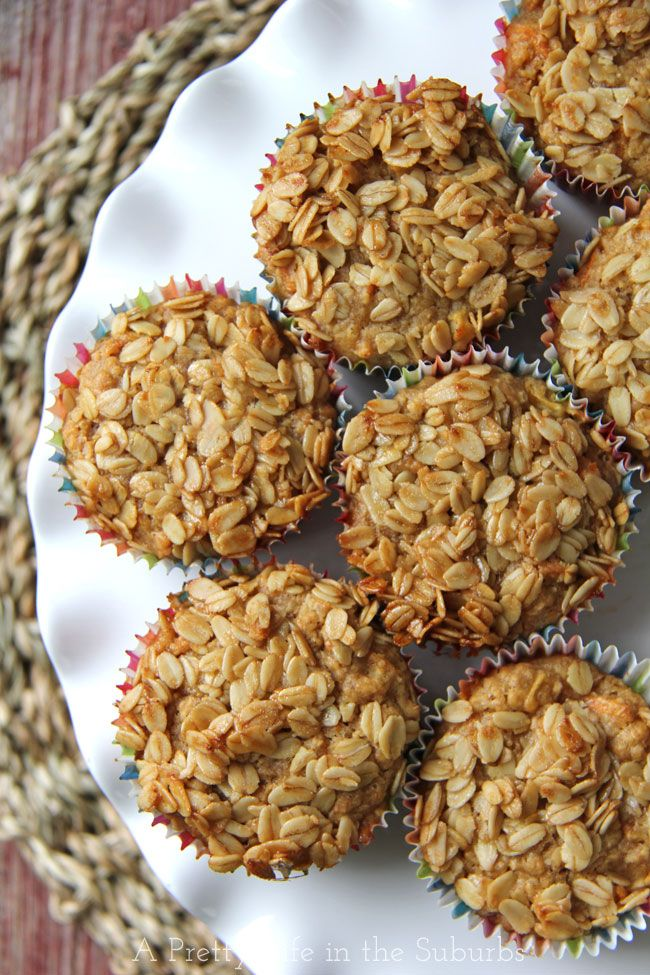 Hearty Banana, Apple & Carrot Oatmeal Muffins