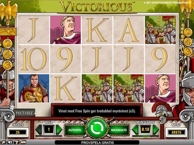 Ge dig i kast med soldater, härförare och stolta kejsare från antikens Rom. Med lagerkransar och gyllene örnar kan du vinna frispinn och få chans på riktigt mäktiga vinster. Ett mycket spännande romerskt spel från svenska Net Entertainment.