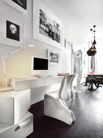 Jay Apartment by Stephane Chamard with Flos Kelvin and Tom Dixon Beat Light